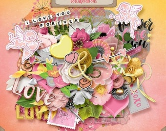 Digital Scrapbooking, Elements, Valentine's Day: Forever And A Day