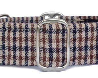 "Noddy & Sweets Adjustable Martingale Collar [1"", 1.5"", 2"" Tweed BB]"