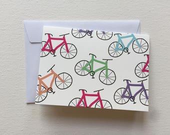 Bicycle Print Greetings Card