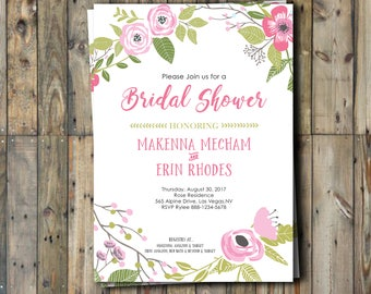 Bridal Shower Invitation - Double Shower - Combined Shower