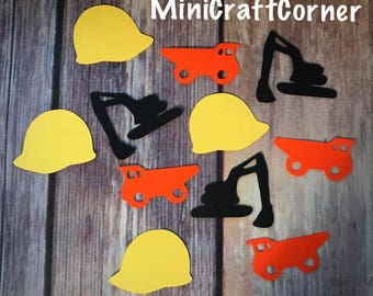 Construction Confetti. Construction Party. Boy Party. Construction. Confetti. Party Supplies. Craft Supplies. Hard Hat Party.