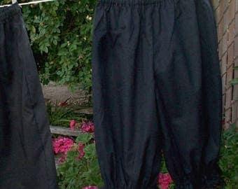 Womens 5X Black Bloomers Cotton Plus Size Renaissance Ready now!