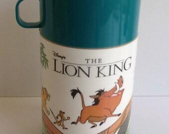 Vintage 1990s Aladdin DISNEY LION KING Thermos Bottle
