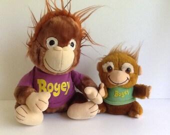 1981 SHIRT TALES Bogey Monkey Plush Lot of 2
