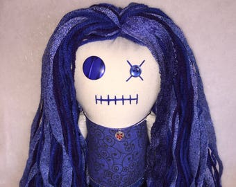 "Creepy n Cute Zombie Doll ~ ""Blissfully Blue"" Gal (D)"