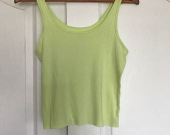green/yellow crop tank top