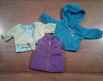 "18"" Doll Clothing - Vest, jacket & top."