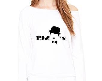 The 20s Inspired Wideneck Custom Sweatshirt 7501