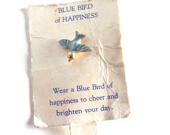 Blue bird of happiness ,blue bird pin
