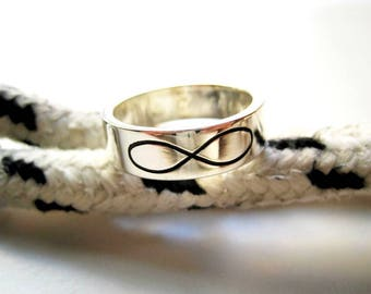 Band ring silver Infinity
