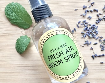 Fresh Air Room Spray - Natural Air Freshener for Pet Odors | Bathroom Spray | Non Toxic Spring Cleaning | Pet Safe | Housewarming Gift