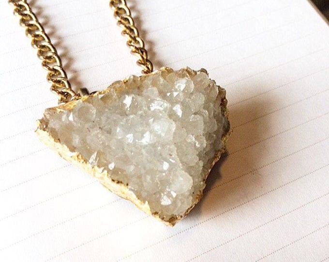 Phillipsite Druzy Necklace