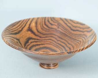 Bowl turned from Mexican Rosewood (Bocote)