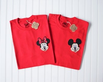 Couples Minnie and Mickey Shirt set
