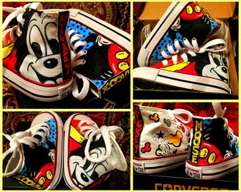 Custom painted Disney/Mickey Converses. Designed and personalized just for you!