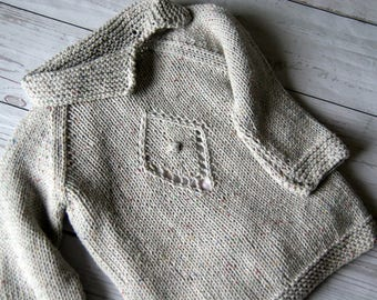 Grey sweater baby girl, Hand knitted sweater girls, baby girl sweater knit, baby girl grey sweater, baby girl clothes knit, baby girl outfit