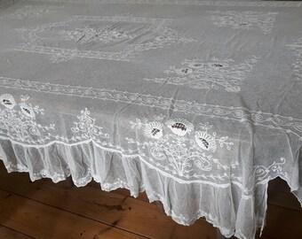 Reservation for Kendra! French vintage point filet bedspread