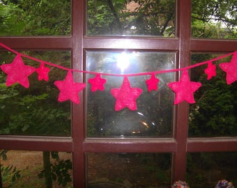 Christmas garland with red stars