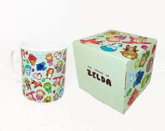 The Legend of Zelda Pattern ~ Ocarina of Time / Majora's Mask ~ Mug and Box Set