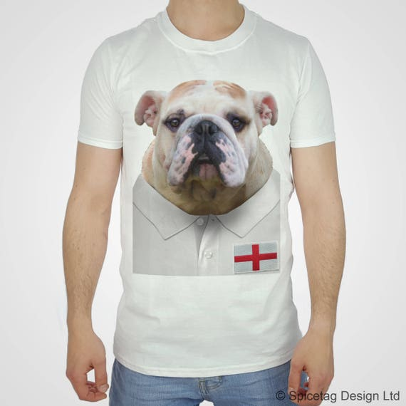 Rugby Shirt For Dog: England Rugby Bulldog T-shirt English Bull Dog Tshirt Puppy