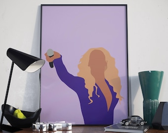 Beyonce Poster. Minimal Poster. Beyonce Print.