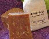 Cinnamon Spice cold process handmade goat's milk soap, handcut bars