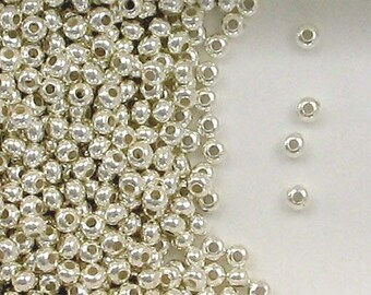Sterling Silver 3mm Donut Spacer Beads, Choice of Lot Size & Price