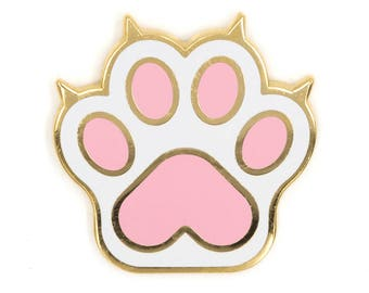 Cat Paw Enamel Pin