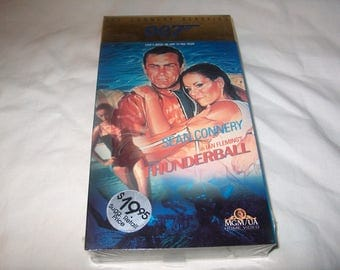 Vintage VHS Movie, James Bond 007, Factory Sealed,Thunderball, 1965, Home Video