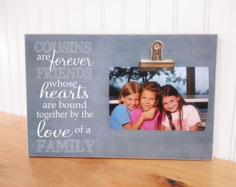 Cousins Photo Frame, Gift For Cousins, Family Gift, Christmas Gift For Cousin, Cousins Gift, Custom Picture Frame, Personalized Gift Idea