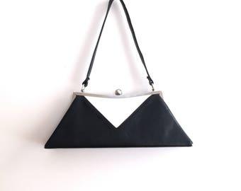 80s-does-50s Geometric Color Block handbag sz S