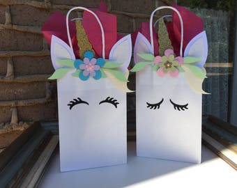 Unicorn Party Favor Bags, Rainbow Party Baby Shower Goodie Bags, First  Birthday Cake Smash