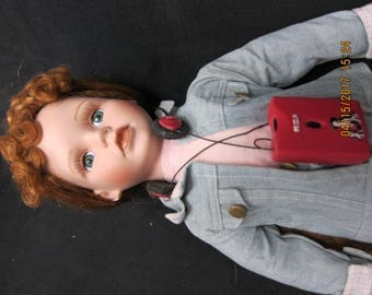 Doll with Radio and earphones