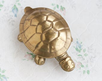 Brass Turtle Box - Ashtray - Ring Holder