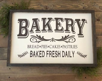 ARGE Bakery Sign, farmhouse kitchen decor