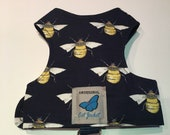 "Escape proof when sized and fitted correctly, Navy Bee ""Butterfly Cat Jackets"" walking harness, jacket, holster, vest"