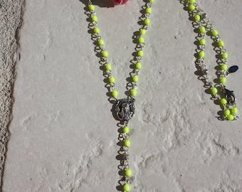 "Neon yellow ""rosary"" Rosary"