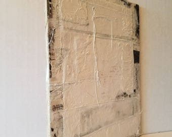 """Original Abstract Mixed Media Textured Minimalist Painting on Reclaimed Wood! """"Detour"""""""