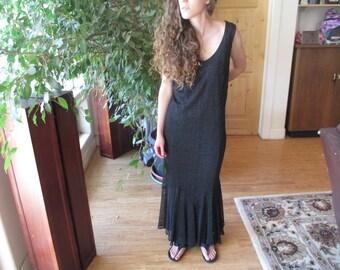 Long Black Dress, Evening Dress, Size 16-18 - Tag is Onyx Nite, Zipper