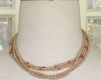 Pearl and Crystal 1950-60's Necklace