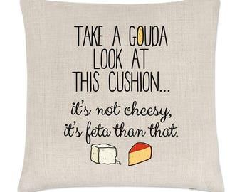 Take A Gouda Look At This Cushion Linen Cushion Cover