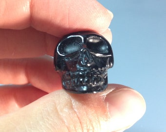 Black Tektite Skull