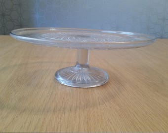 Vintage glass cake stand