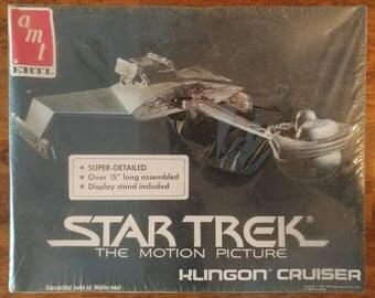Vintage Star Trek the Motion Picture Klingon Cruiser Ship Model Kit