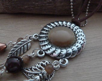 """Silver necklace """"fall leaves"""""""