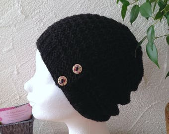 Woman or teen black structured Hat