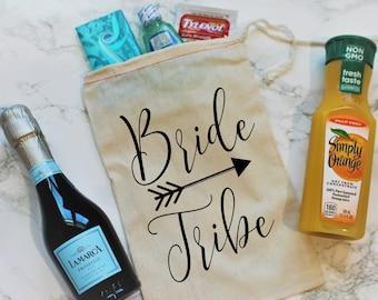 Bride Tribe Party Favor Bag, Bachelorette Party Favor, Bachelorette gift, Bachelorette Party Gift, Gift Bag, Bachelorette Party Favor Bag