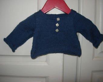 Tunisian blue sweater 3 months