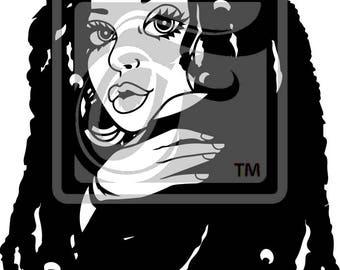 Focsi Woman with Locs SVG