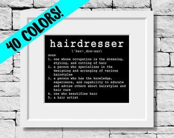 Hairdresser Definition, Hairdresser Quote, Hairdresser Print, Hairdresser Gifts, Hairstylist Prints, Hairdresser Quotes, Hairstylist Quotes